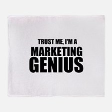 Trust Me, I'm A Marketing Genius Throw Blanket