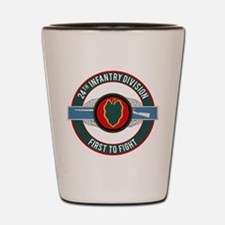 24th Infantry CIB motto Shot Glass