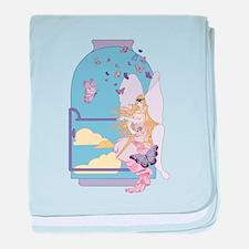 Tarot The Queen of Swords baby blanket