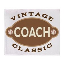 Baseball Coach Vintage Throw Blanket