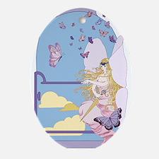 Tarot The Queen of Swords Ornament (Oval)