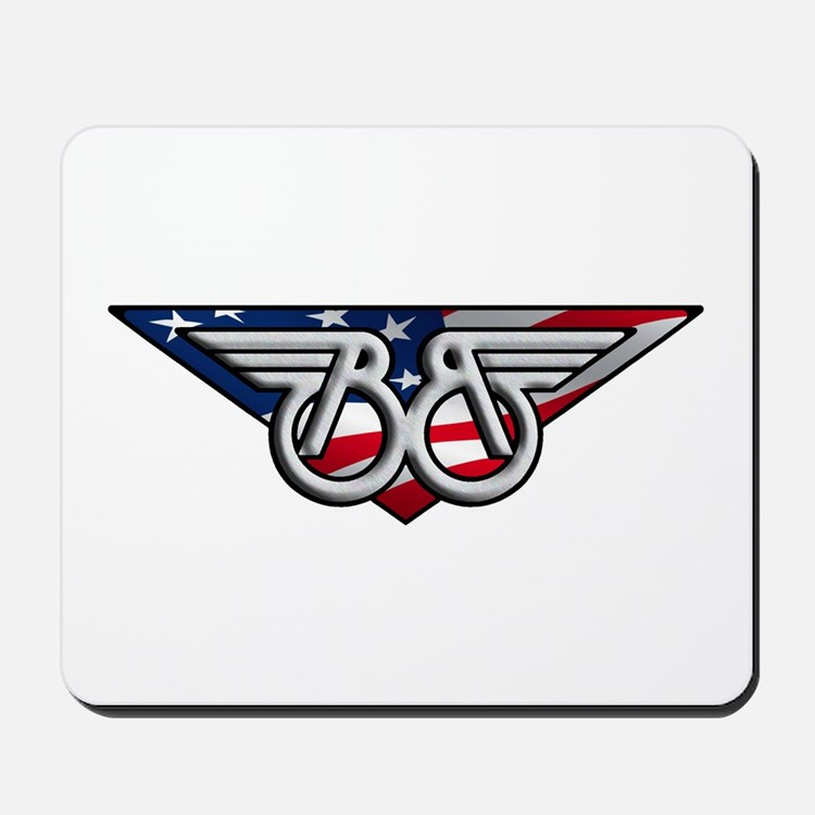 Winged B With American Flag Mousepad