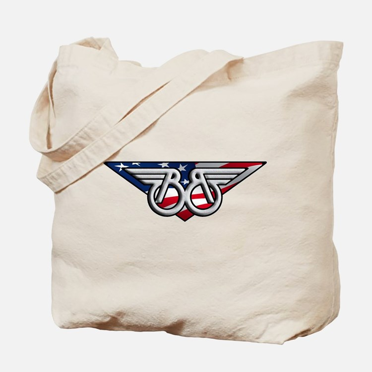 Winged B with American Flag Tote Bag