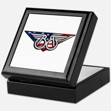 Winged B With American Flag Keepsake Box