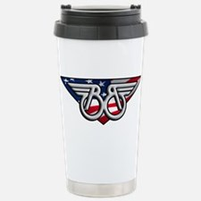 Winged B with American Flag Travel Mug