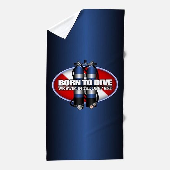 Born To Dive (ST) Beach Towel