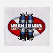 Born To Dive (ST) Throw Blanket