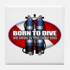 Born To Dive (ST) Tile Coaster
