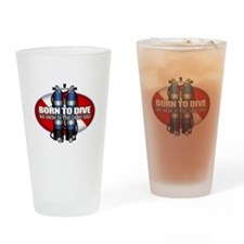 Born To Dive (ST) Drinking Glass