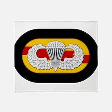 75th Ranger Airborne Throw Blanket