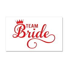 Team bride red Car Magnet 20 x 12