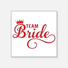 Team bride red Sticker