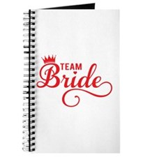 Team bride red Journal