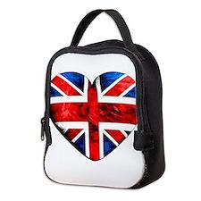 The Union Jack (heart) Neoprene Lunch Bag