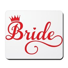 Bride red Mousepad