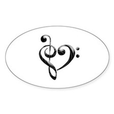 Small Music Heart Bumper Stickers