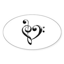 Small Music Heart Decal