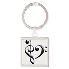 Small Music Heart Keychains
