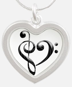 Small Music Heart Necklaces