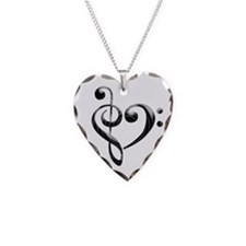 Small Music Heart Necklace