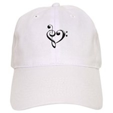 Small Music Heart Baseball Baseball Cap