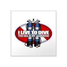 Live To Dive (ST) Sticker