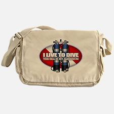 Live To Dive (ST) Messenger Bag