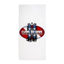 Live To Dive (ST) Beach Towel
