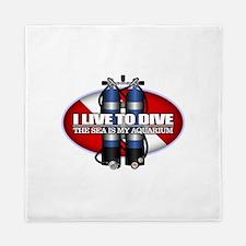 Live To Dive (ST) Queen Duvet