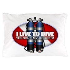Live To Dive (ST) Pillow Case