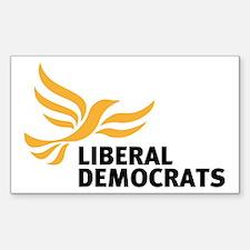 Liberal Democrats Sticker (rectangle)