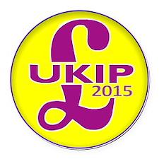 UKIP 2015 Round Car Magnet