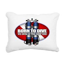 Born To Dive (ST) Rectangular Canvas Pillow
