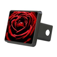 Single Red Rose Hitch Cover