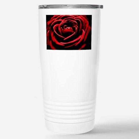 Single Red Rose Stainless Steel Travel Mug