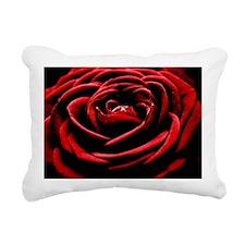 Single Red Rose Rectangular Canvas Pillow