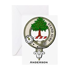 Anderson Clan Badge Greeting Cards