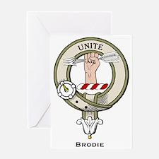 Brodie Clan Badge Greeting Cards