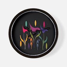 Bright Calla Lily Wall Clock