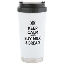 Keep Calm Milk Bread Travel Mug