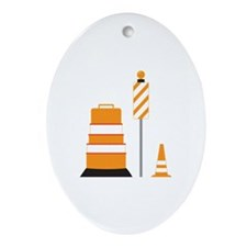 Safety Cones Ornament (Oval)