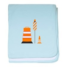 Safety Cones baby blanket