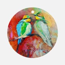 Beautiful Bird Painting Ornament (Round)