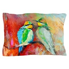 Beautiful Bird Painting Pillow Case
