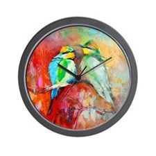 Beautiful Bird Painting Wall Clock