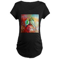Beautiful Bird Painting Maternity T-Shirt