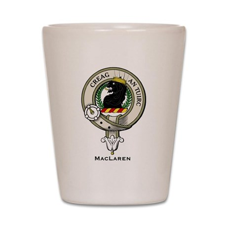 MacLaren Clan Badge Shot Glass