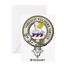 Stewart Clan Badge Greeting Cards