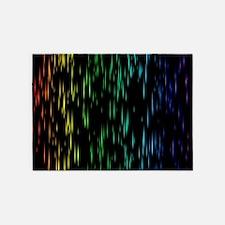 Rainbow Rain 5'x7'Area Rug