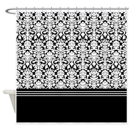 Black And White Damask Shower Curtain By Admin Cp2452714